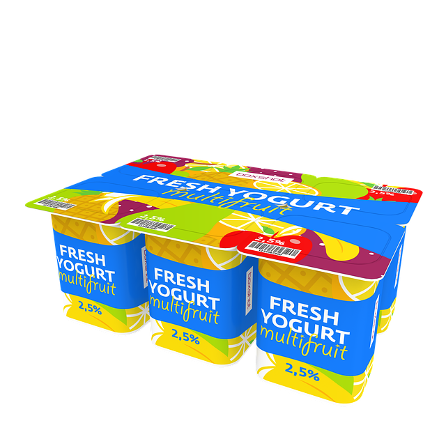 sada jogurtů