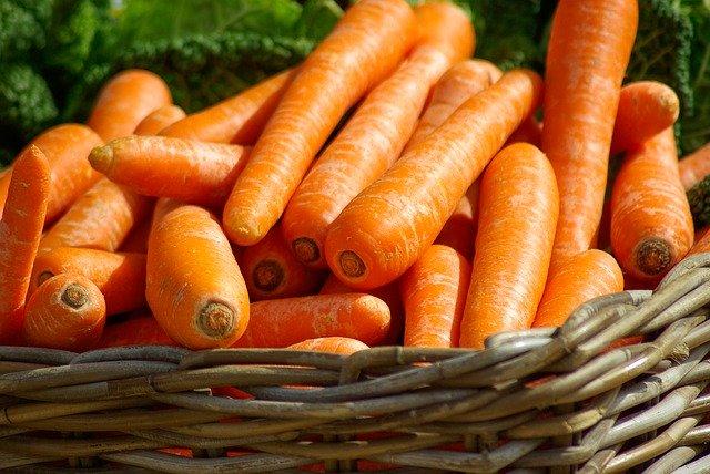 mrkev, zelenina, košík